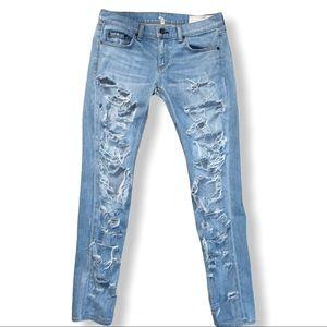 Rag & Bone The Dre Deconstructed Boyfriend Jeans
